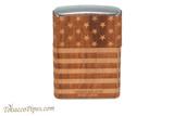 Zippo Woodchuck USA Flag Wrap Lighter Right Side