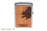 Zippo Woodchuck USA Lighter and Bottle Opener Set Lighter Back