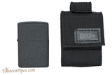 Zippo Black Tactical Pouch and Lighter Set