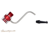Radiator Pipes Stubby Bent Tobacco Pipe Frame Polished Red Apart