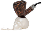 Woodwater White Magnetic Skull Pipe Stand Left Side (Pipe not Included)