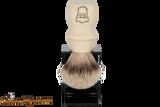 Parker WMST Deluxe Silvertip Badger Shave Brush & Stand