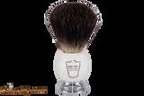 Parker MIBB Marble Black Badger Shave Brush