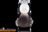 Parker MIBB Marble Black Badger Shave Brush & Stand
