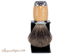 Taconic Shave TSBMB Beechwood Mixed Badger Shave Brush & Stand