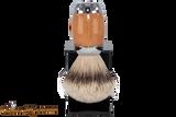 Taconic Shave TSBST Beechwood Silvertip Badger Shave Brush & Stand