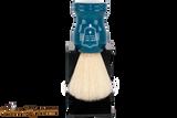 Parker BLBO Blue Wood Boar Shave Brush & Stand