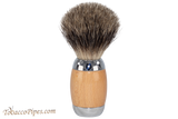Taconic Shave TSBPB Beechwood Pure Badger Shave Brush