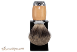 Taconic Shave TSBPB Beechwood Pure Badger Shave Brush & Stand