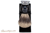 Parker BCPB Pure Badger Shave Brush & Stand Front