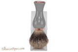 Parker GGPB Long Handle Pure Badger Shave Brush & Stand