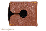 Parker Brown Leather Safety Razor Cover Back
