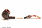 Savinelli Roma Rustic 606 KS Lucite Stem Tobacco Pipe Apart