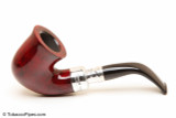 Peterson Spigot Red Spray 05 Smooth Tobacco Pipe Fishtail Left Side