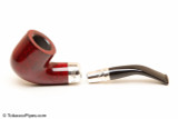 Peterson Spigot Red Spray 01 Smooth Tobacco Pipe Fishtail Apart