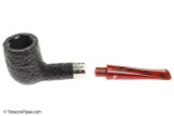 Peterson Dracula X105 Sandblast Fishtail Tobacco Pipe Apart