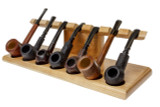 Neal Yarm Tilt Head 7 Pipe Stand Cherry Pipes