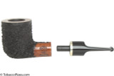OMS Pipes Billiard Tobacco Pipe - Silver Band