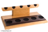Neal Yarm Cherry and Katalox 5-Pipe Stand Left Angle