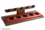 Neal Yarm Walnut and Satine 5-Pipe Stand Left Angle