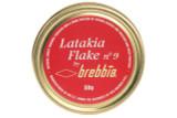 Brebbia Latakia Flake No. 9 Pipe Tobacco Tin - 50g Front