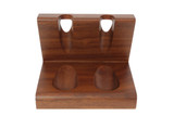 Wooden 2-Pipe Solid Tobacco Pipe Stand