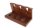 Wooden 3 Pipe Solid Tobacco Pipe Stand Angle
