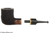 OMS Pipes Billiard Tobacco Pipe - Brass Band Top Apart