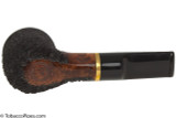 OMS Pipes Billiard Tobacco Pipe - Brass Band Top Bottom