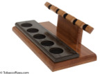 Neal Yarm Mahogany and Morta 5-Pipe Stand Side