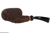 Brebbia Oom-Paul with Cap Tobacco Pipe - Rustic Bottom