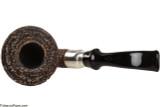 Brebbia First Calabash Plum Tobacco Pipe - Rustic Top