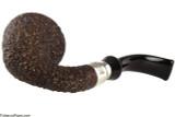 Brebbia First Calabash Plum Tobacco Pipe - Rustic Bottom