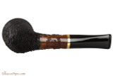 OMS Pipes Straight Oval Dublin Tobacco Pipe - Brass Band Bottom