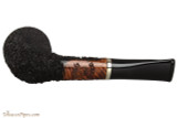 OMS Pipes Straight Oval Dublin Tobacco Pipe - Silver Band Bottom