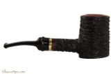 OMS Pipes Cherrywood Poker Tobacco Pipe - Brass Band Right Side