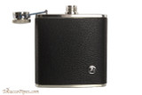Rattray's Black Leather Flask - 5 oz Open