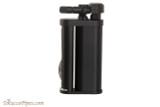 Pearl Eddie Black Matte Pipe Lighter with Tools Left Side