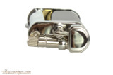 Pearl Eddie Black & Silver Pipe Lighter with Tools Top