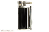 Pearl Eddie Black & Silver Pipe Lighter with Tools Left Side