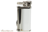 Pearl Eddie White & Silver Pipe Lighter with Tools Left Side