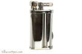 Pearl Eddie Silver Stripe Pipe Lighter with Tools Left Side