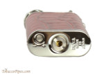 Pearl Stanley Red Leather Pipe Lighter Bottom