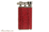 Pearl Stanley Red Leather Pipe Lighter