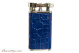 Pearl Stanley Blue Leather Pipe Lighter Right Side