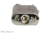 Pearl Stanley Burgundy Leather Pipe Lighter Bottom