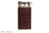 Pearl Stanley Burgundy Leather Pipe Lighter Right Side