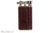 Pearl Stanley Burgundy Leather Pipe Lighter