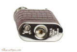 Pearl Stanley Burgundy Small Textured Leather Pipe Lighter Bottom