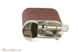 Pearl Stanley Burgundy Small Textured Leather Pipe Lighter Top